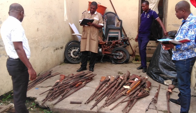NACSA AND POLICE TAKE STOCK OF SEIZED ILLICIT SMALL ARMS IN ASHANTI REGION